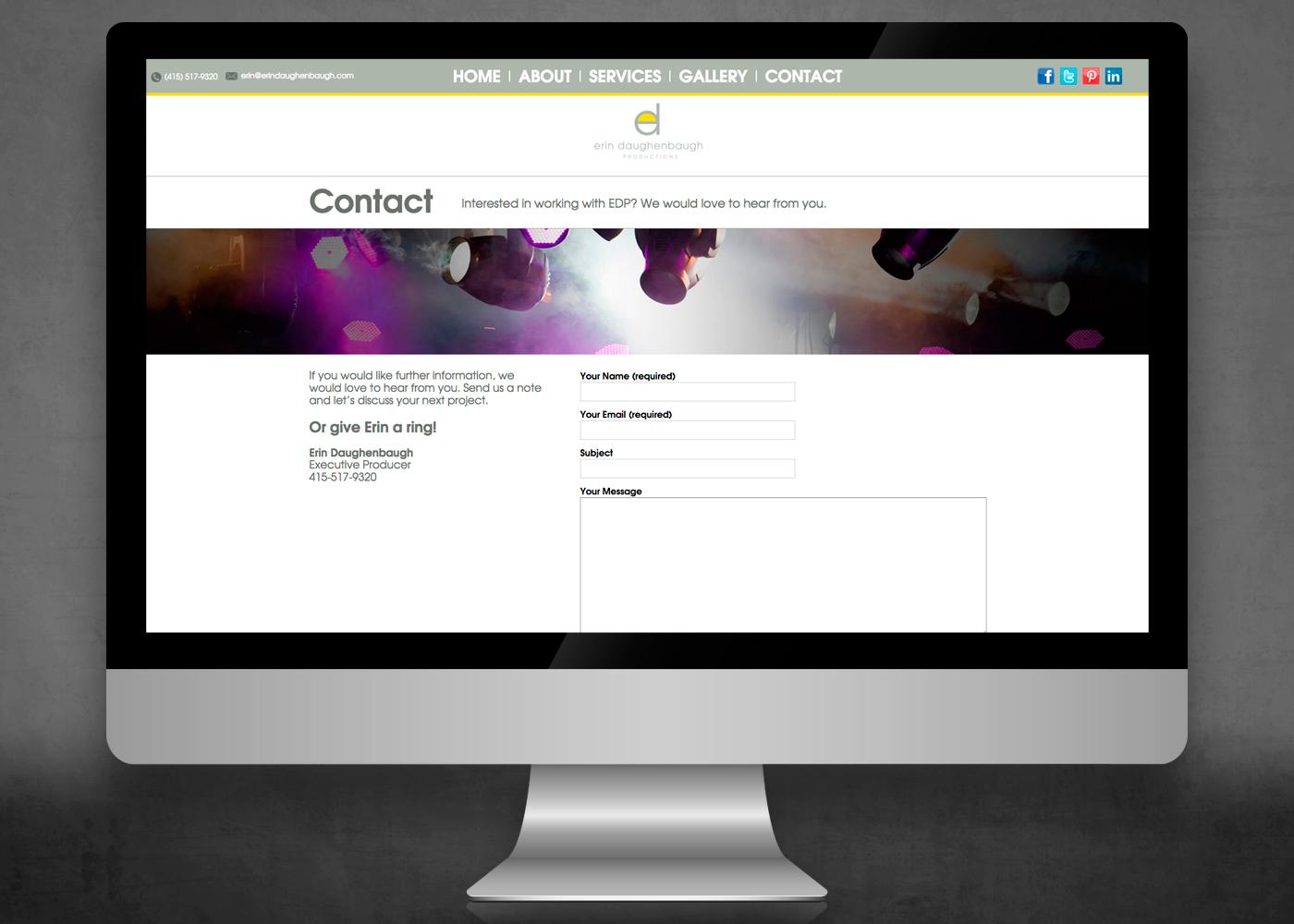 Website for Erin Daughenbaugh