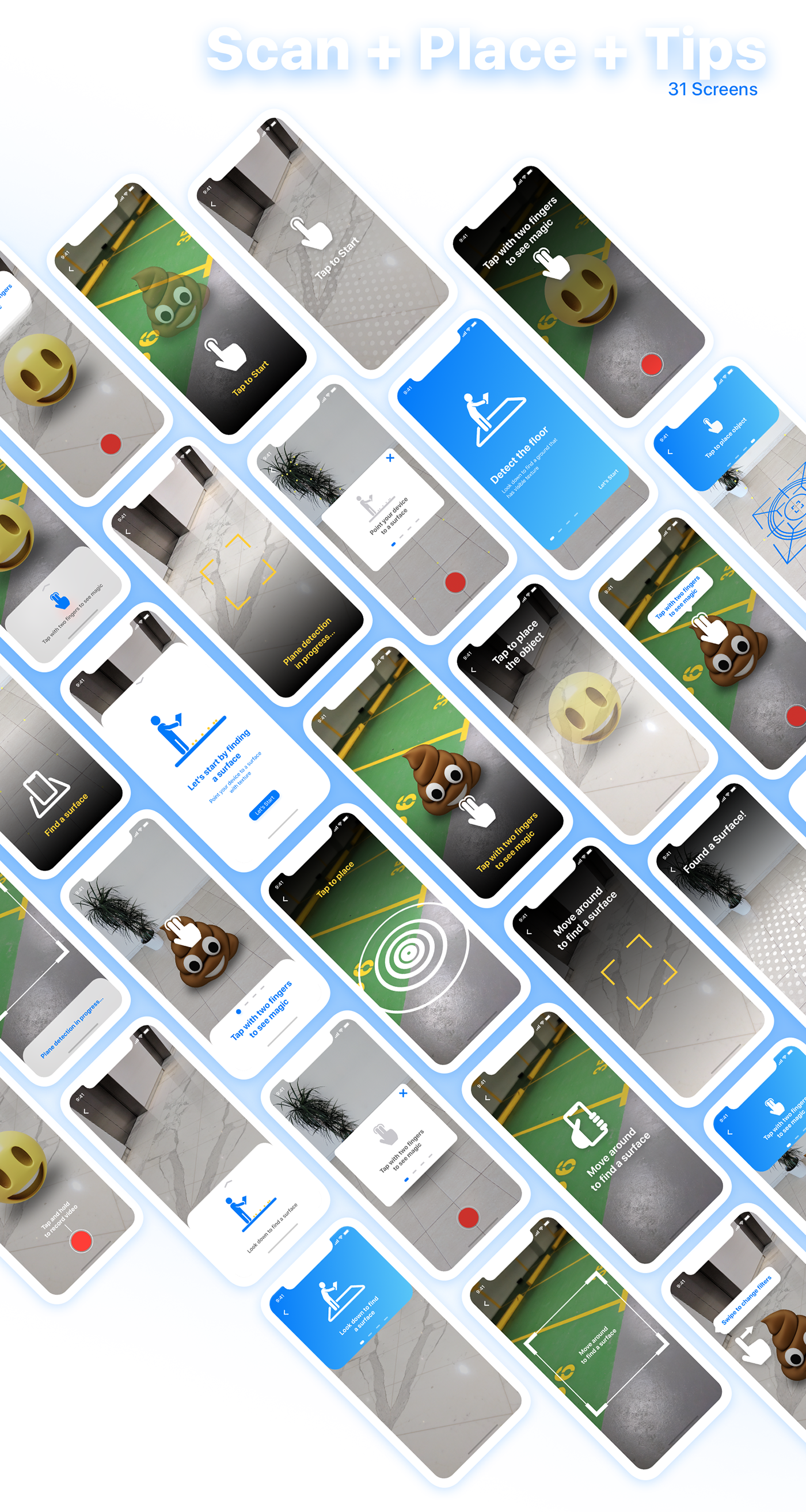 AR augmented reality uikit arkit iPhone x freebie