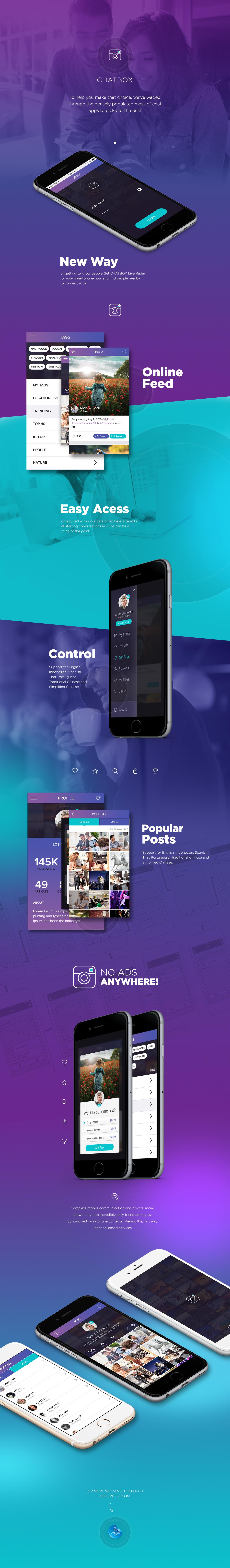 chatbox chatting pixelzeesh ios app iphone Mockup Samsung iosapp
