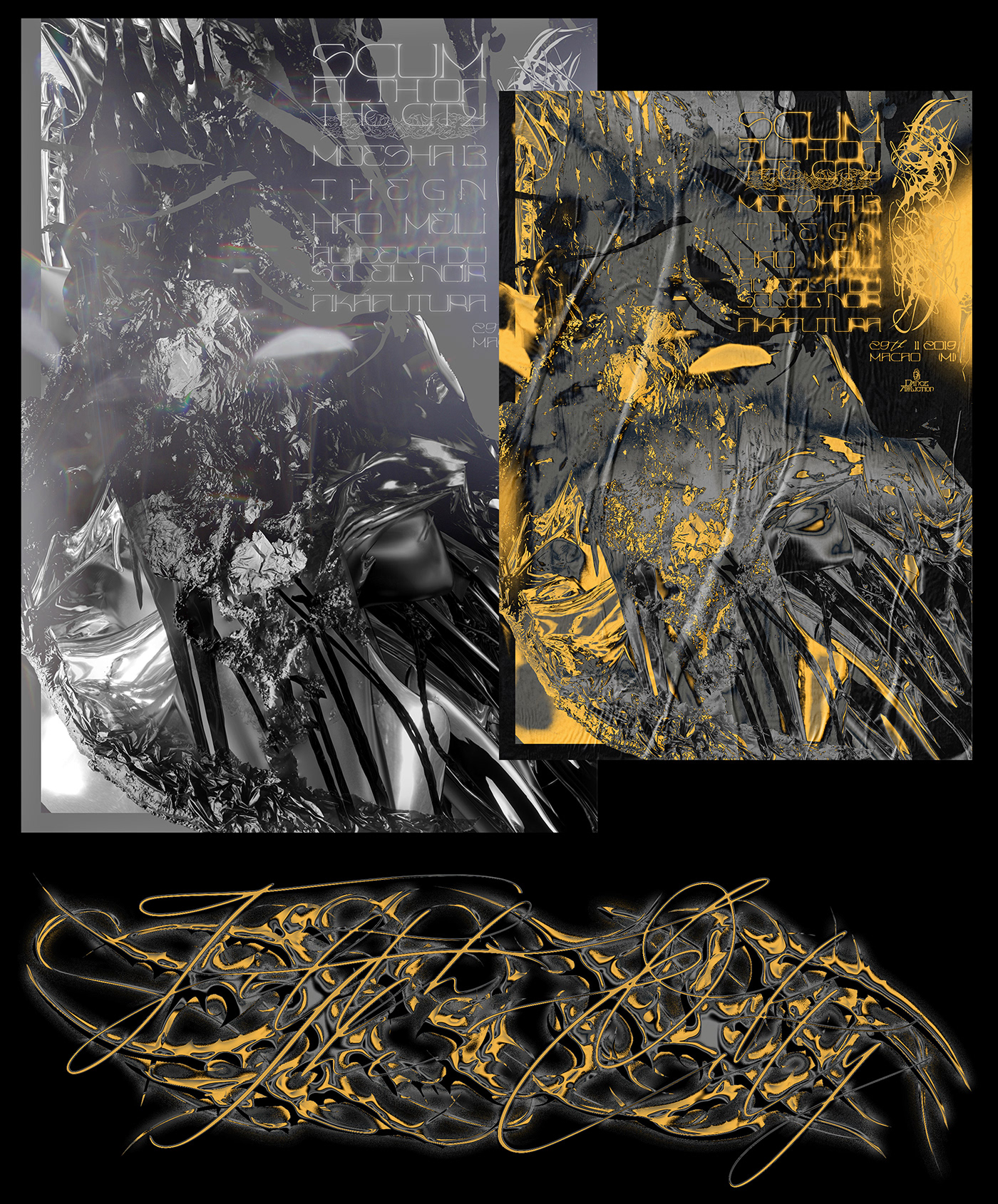 weird graphics acid NEW GRAPHICS contemporary experimental design tribal extreme