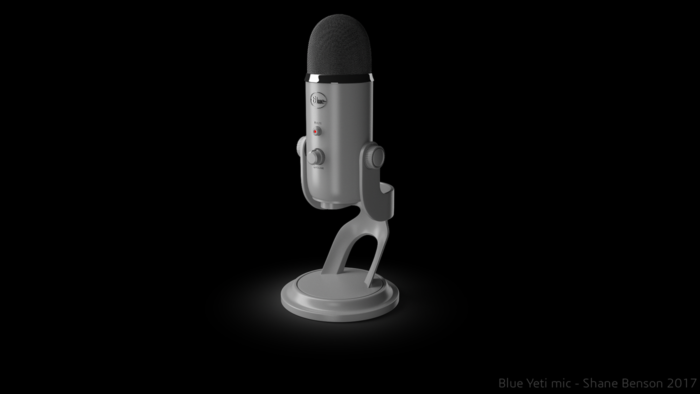 c4d cinema 4d 3D Vrayforc4d mic Blue Yeti