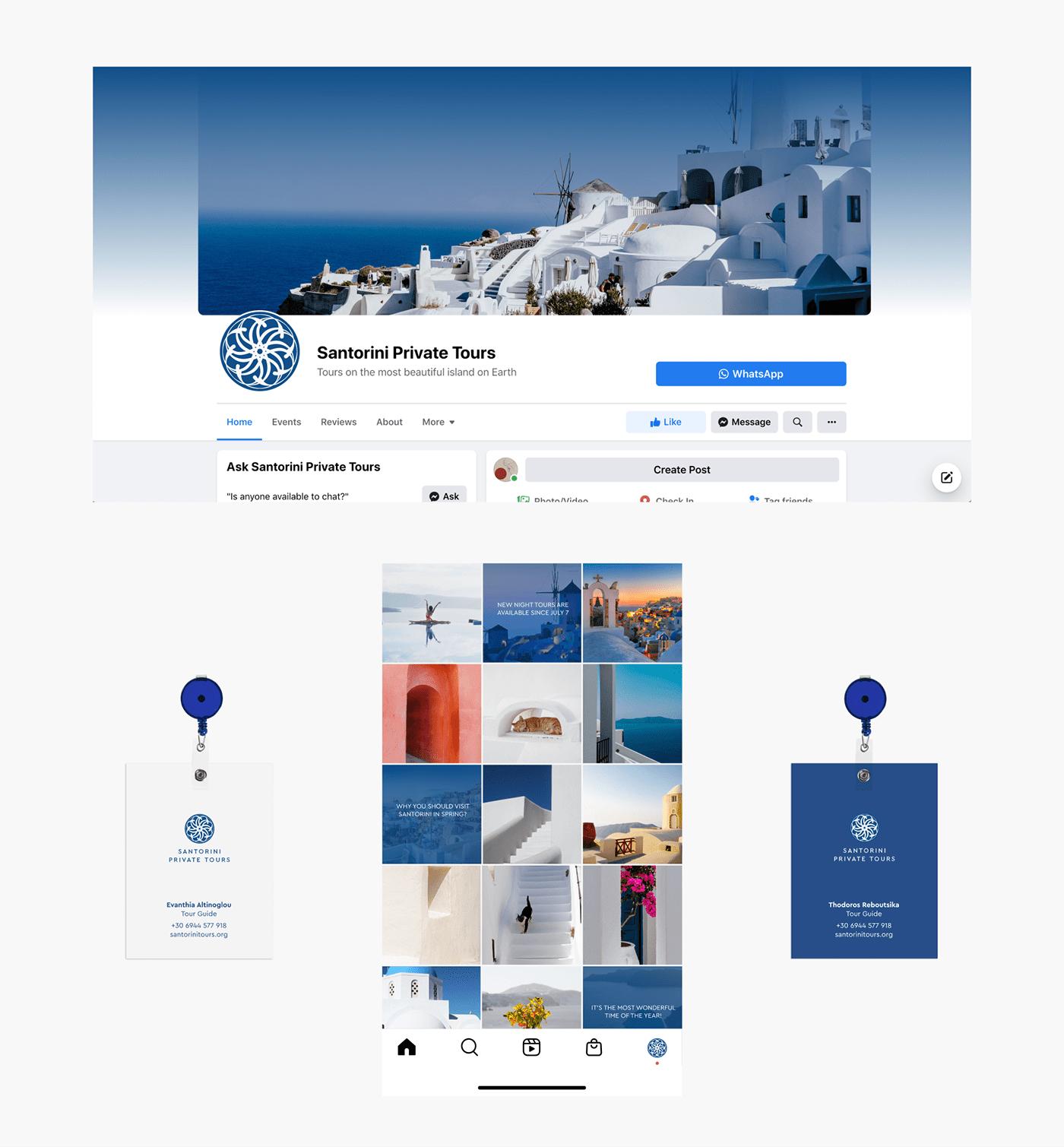 agency branding  Greece logo santorini tours Travel Webdesign Website excursion