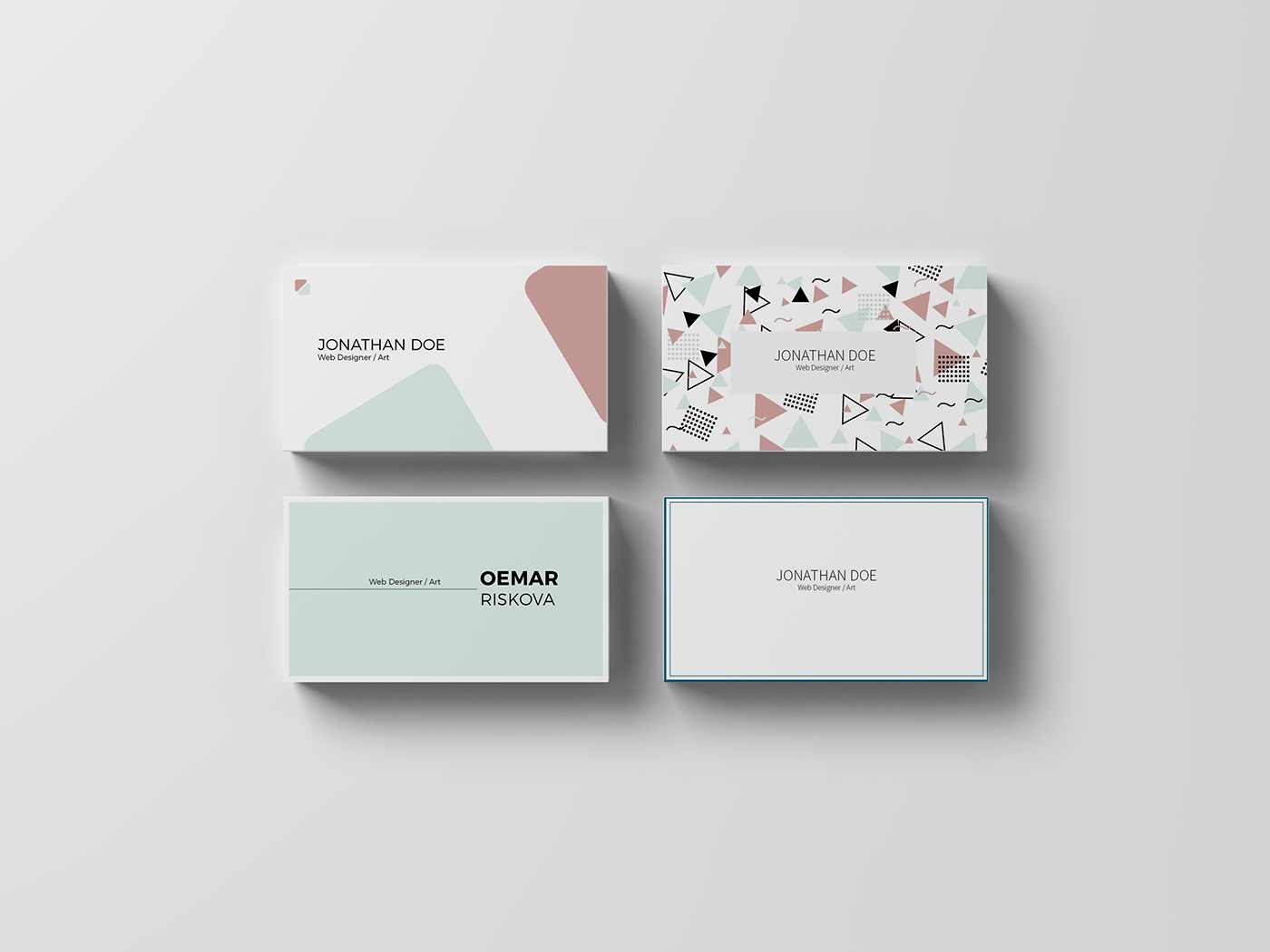 Business card on behance for Postcard business cards