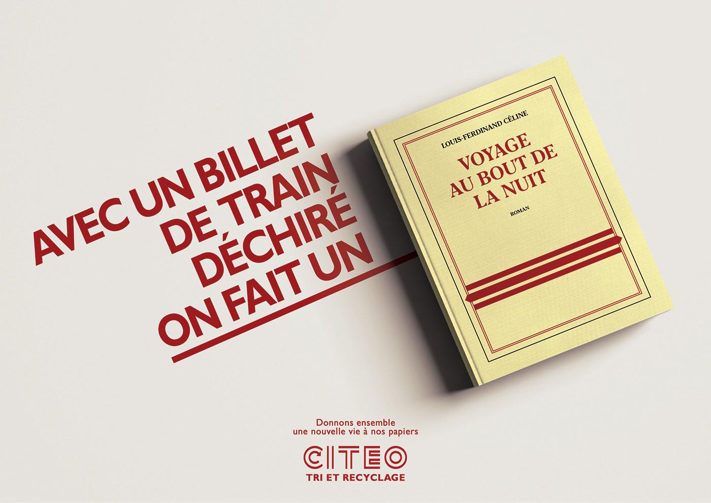 Citeo livre book ad recyclage recycler ecologie tri papier paper