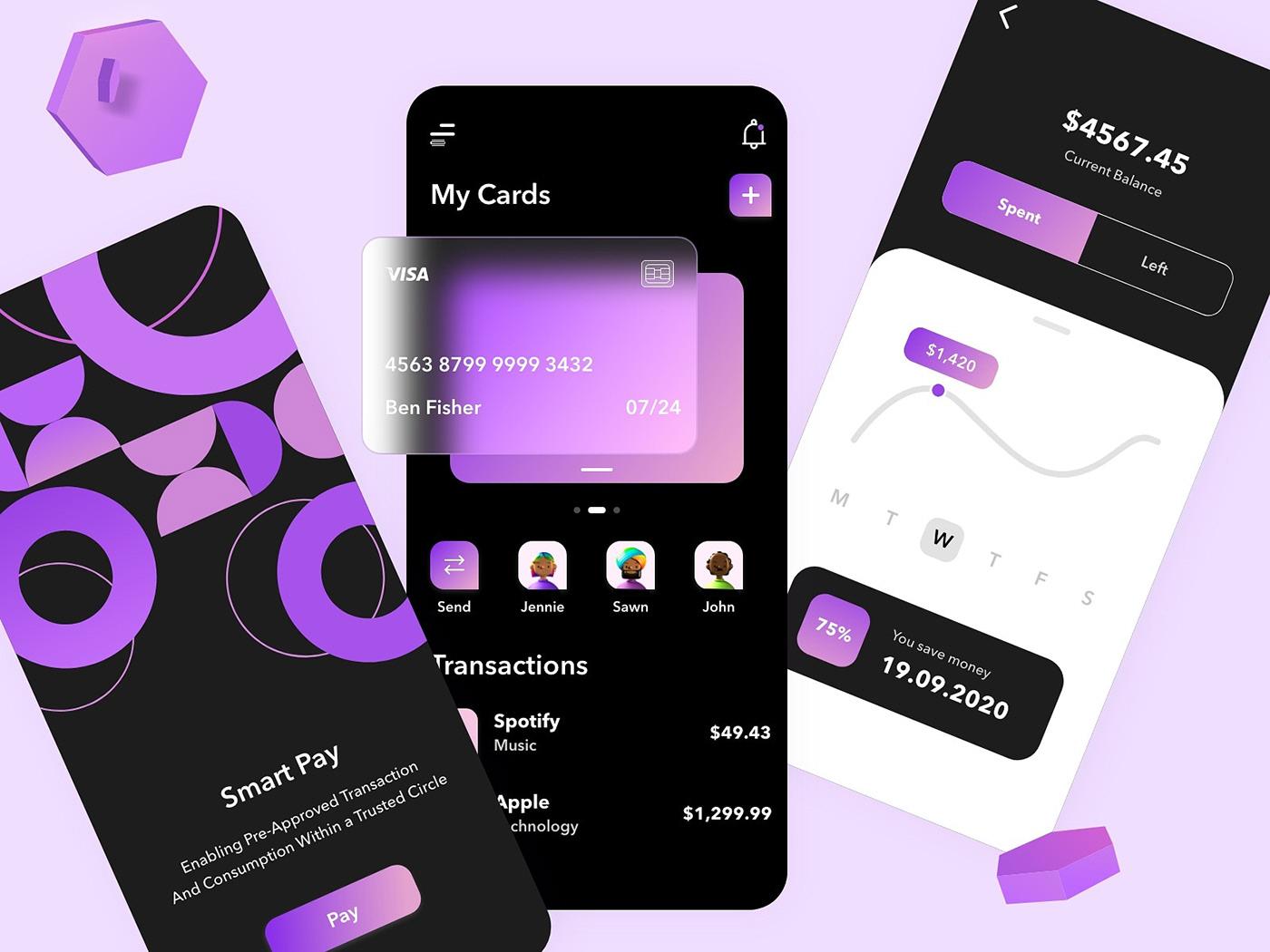 3d design app design glassmorphism icons ui design UX design