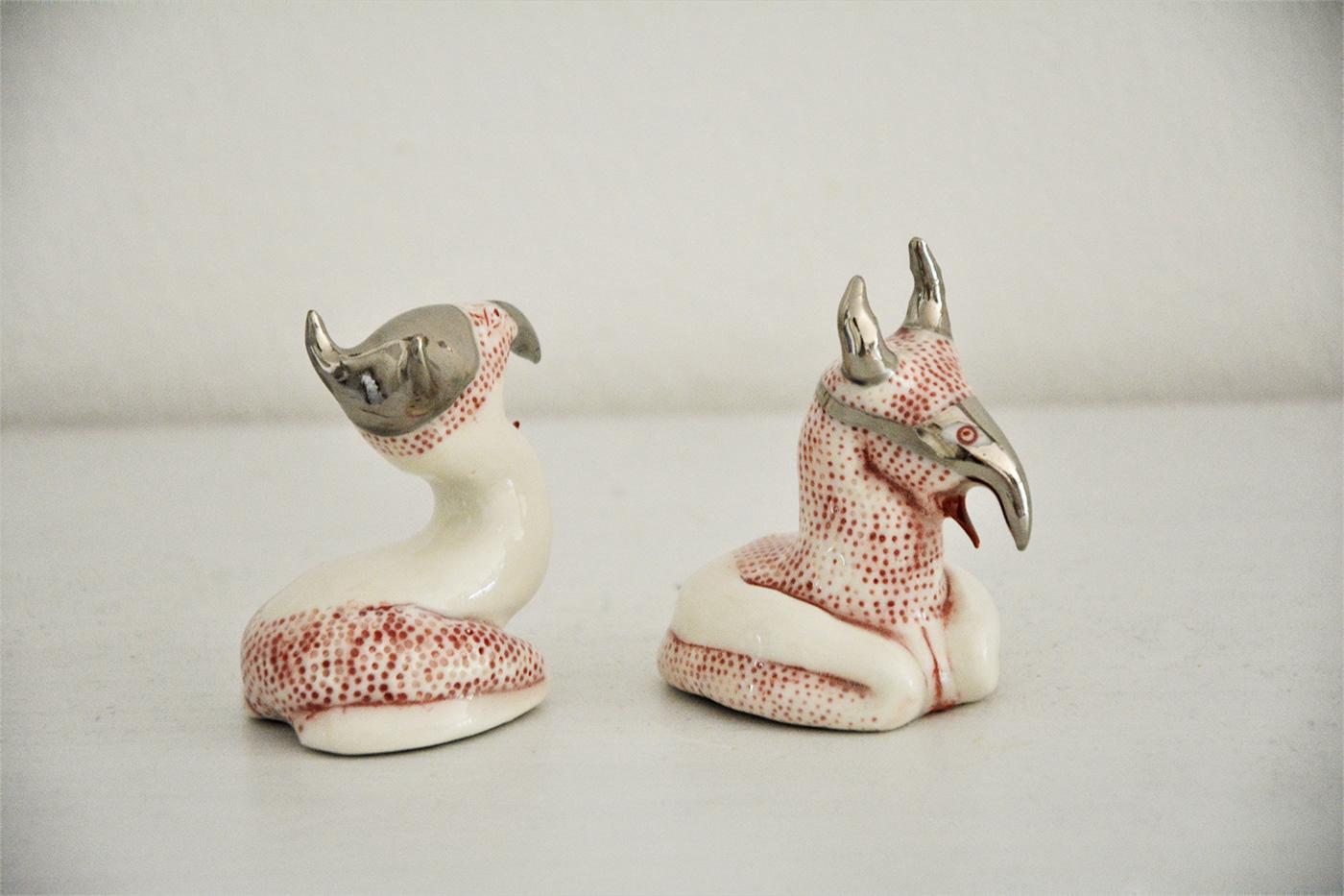 grotesque porcelain sculptur