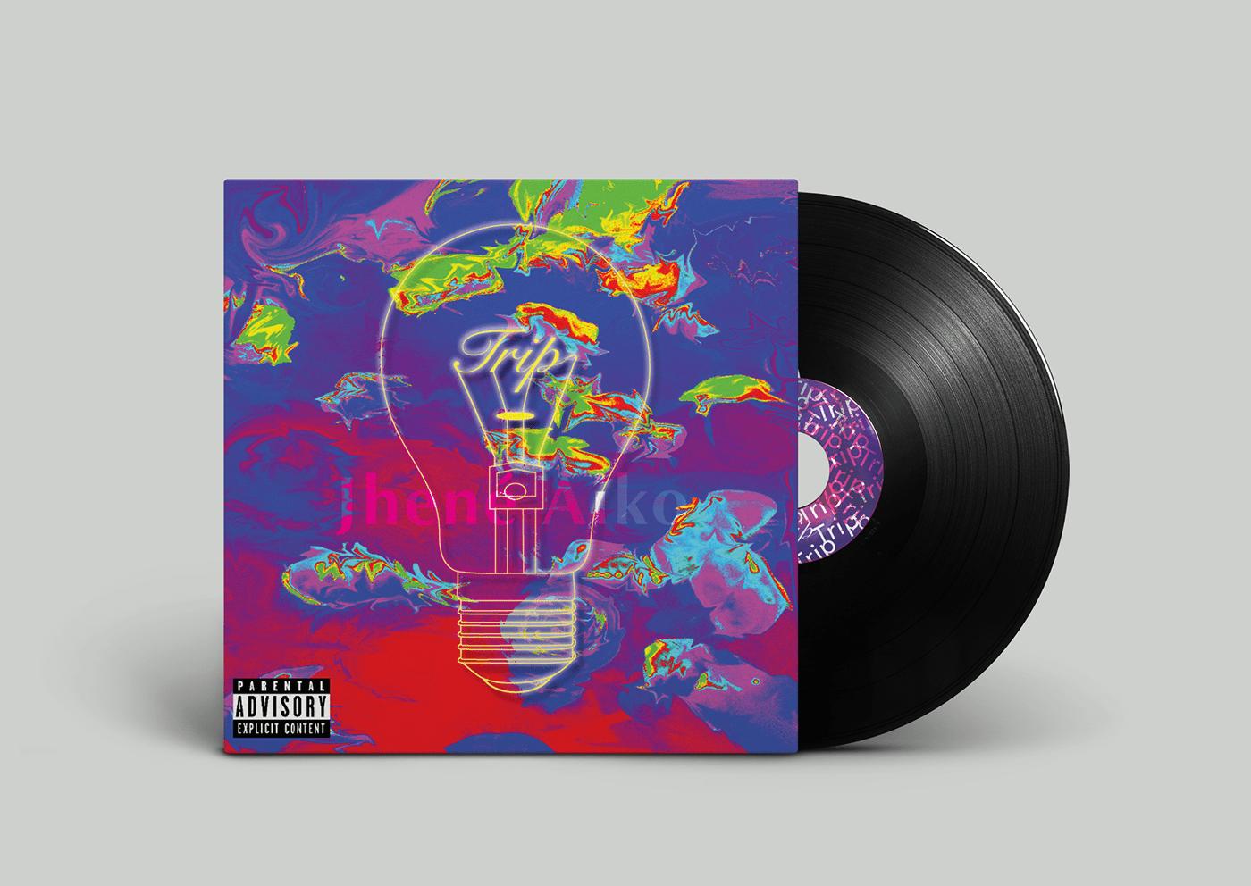 concept graphic design  music album record redesign vinyl
