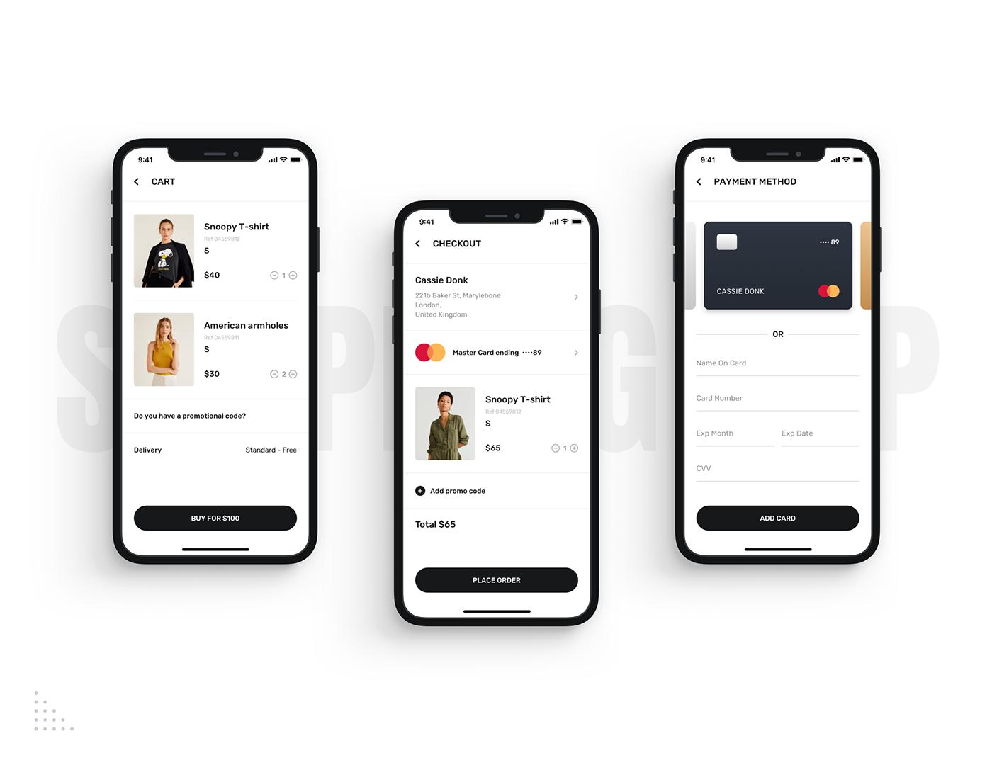 Mobile UI UI ui kit kit Mobile app Ecommerce shopping app shop app ecommerce app fashion app