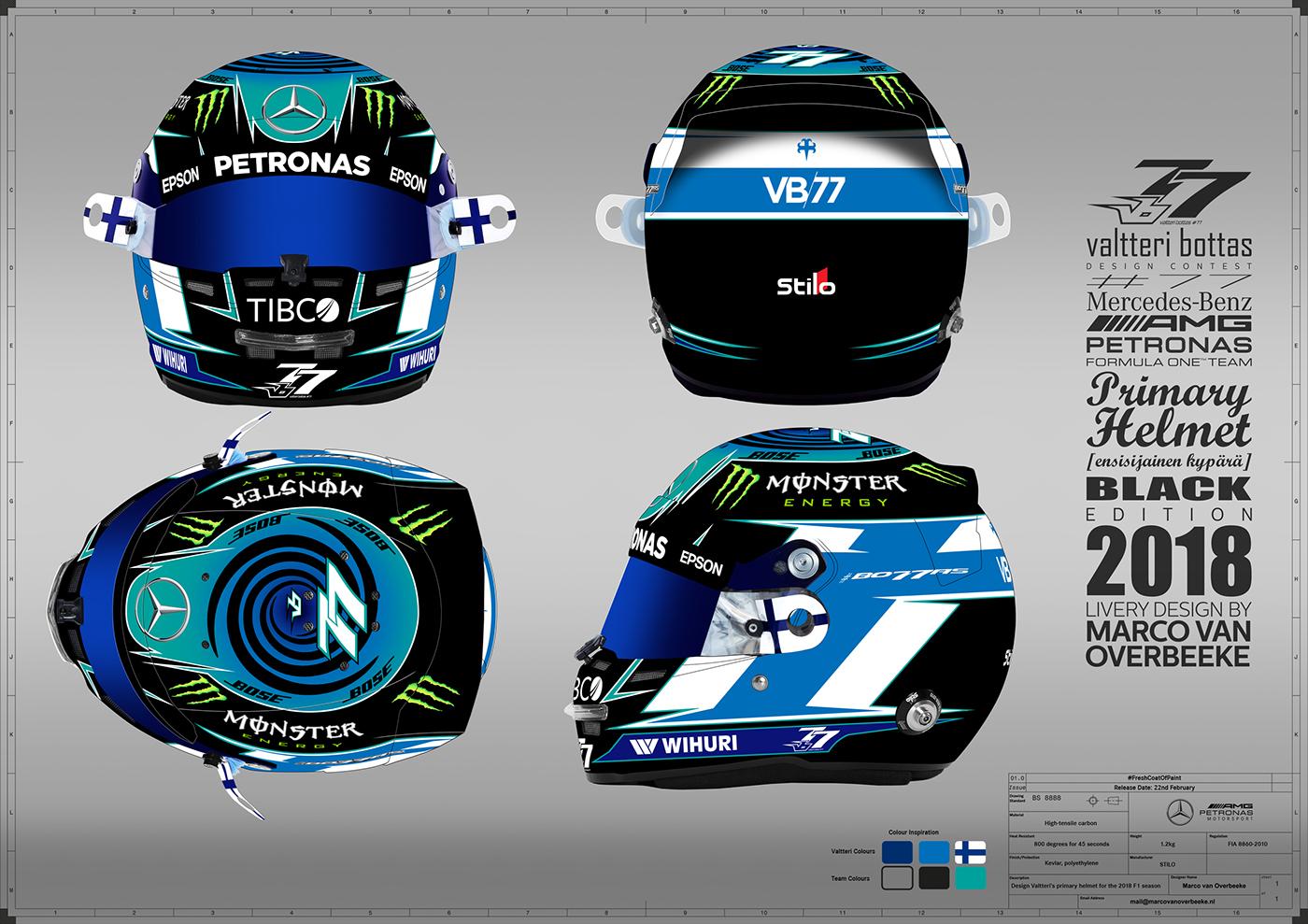Valtteri Bottas Helmet Design Contest 2018 on Behance