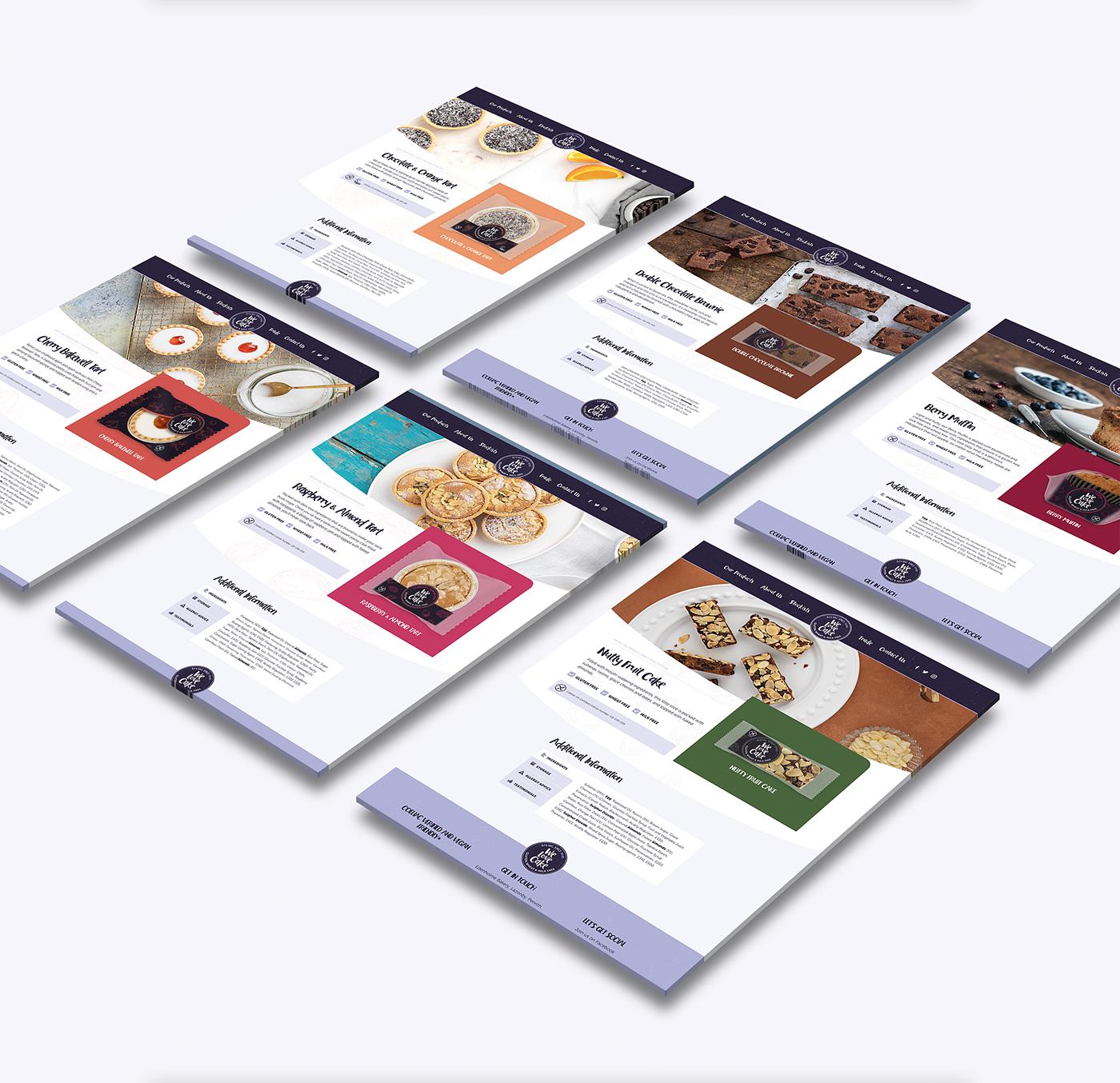 Website Design,we love cake,UI,ux,gluten free cakes,dairy free