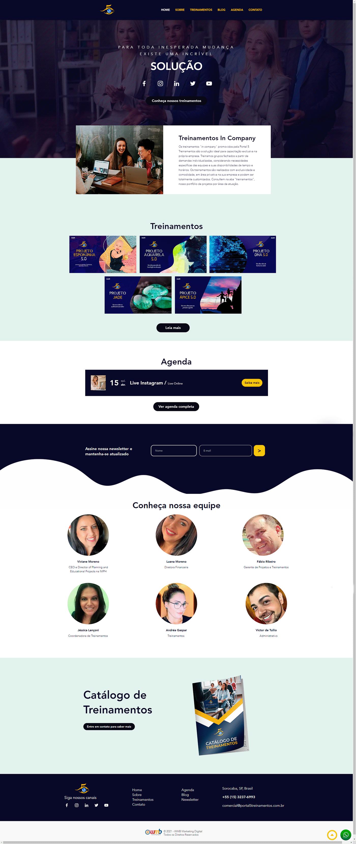 design marketing   portal site solução Treinamentos