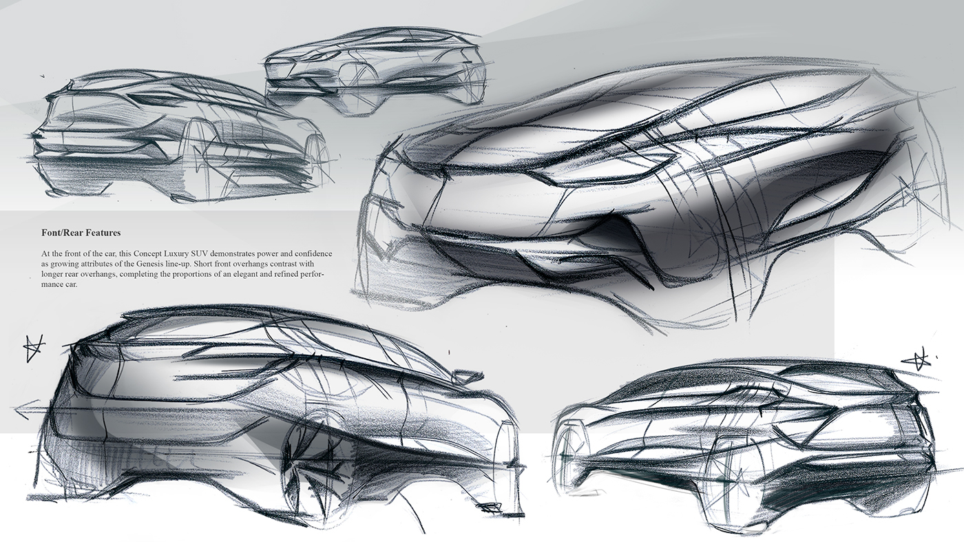 Luxury Suv Of Genesis Sketch On Behance