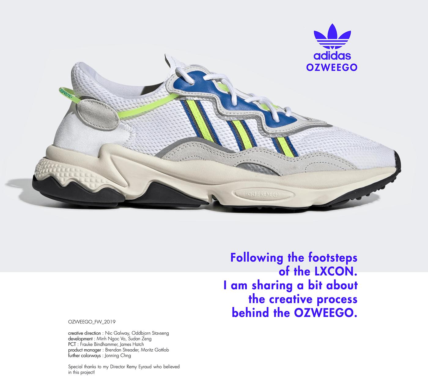 Adidas Ozweego Design Process by Konstantin Baumann