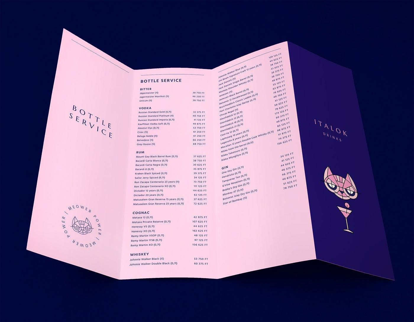 Cat,Bar Identity,bar logo,bar interior,menu design,logo,club interior,bar branding,club branding,Bar Design