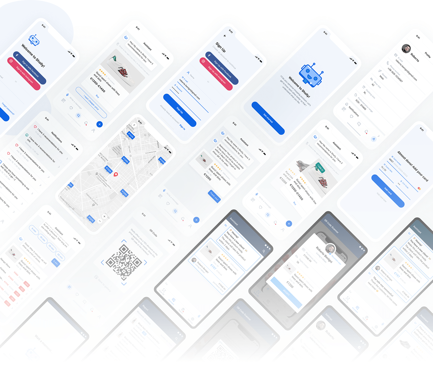 ai Chatbot artificial intelligence app ux animation  mobile Startup UI Mockup
