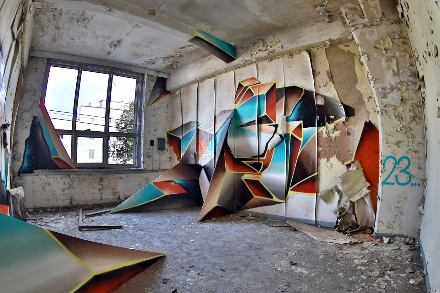Image may contain: painting and graffiti
