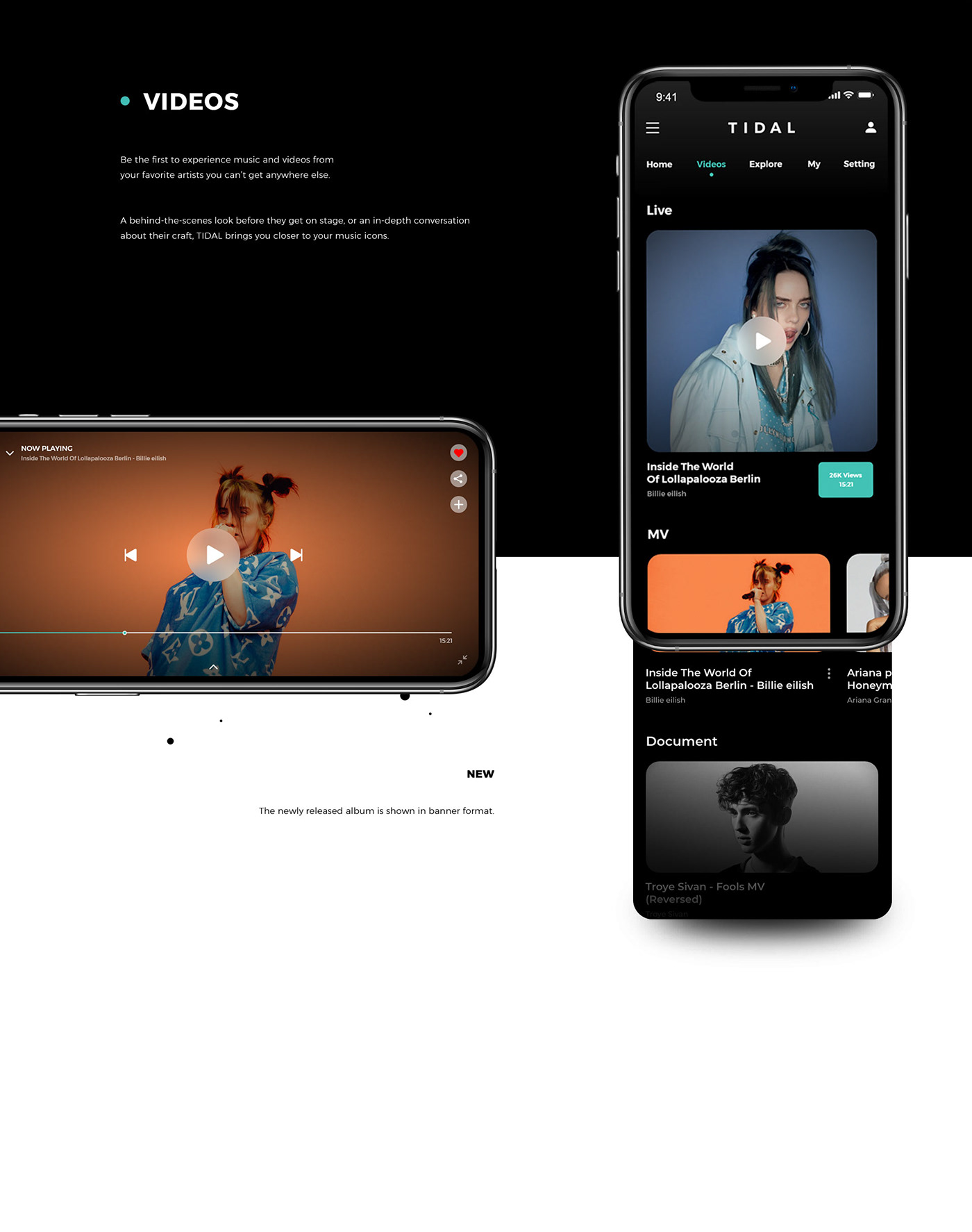 #music,#tidal,app,design,interaction,playlists,Streaming,UI,ux,videos