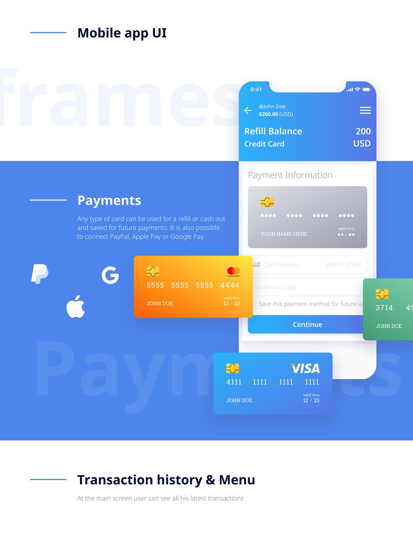 animation  app application design interaction mobile UI ux WALLET Web