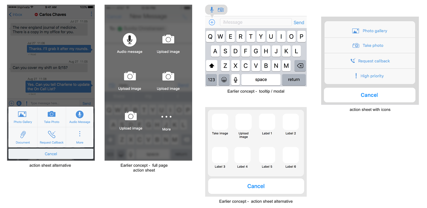 UI ux visual design Chat Input Bar messaging ios