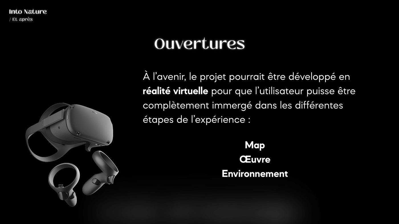 art contemporain DA Ecology interactivity UI ux Webdesign