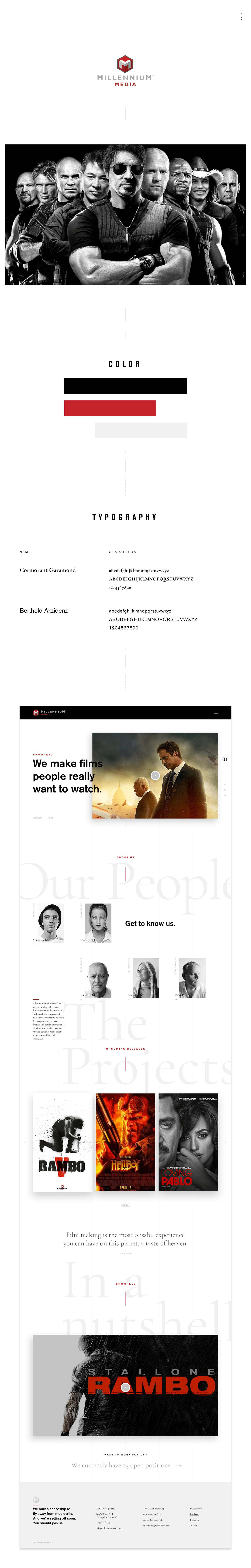 art direction  Art Director branding  Corporate Design Entertainment Film   Movies UI ux Web Design