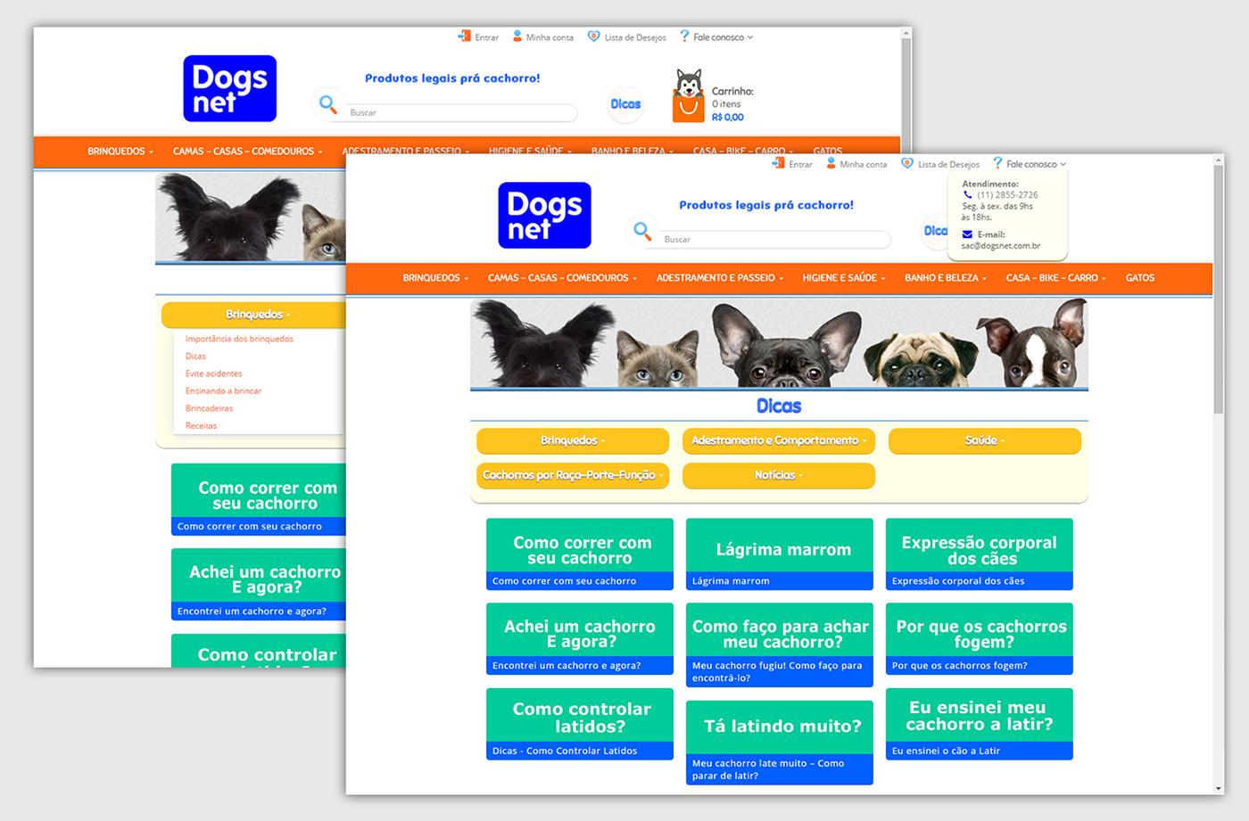 Webdesign xtech Ecommerce andressacomar site