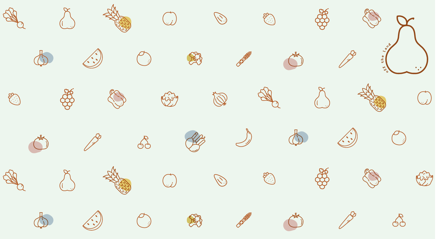 vegetables fruits pattern Icon Food  veg land Pear green