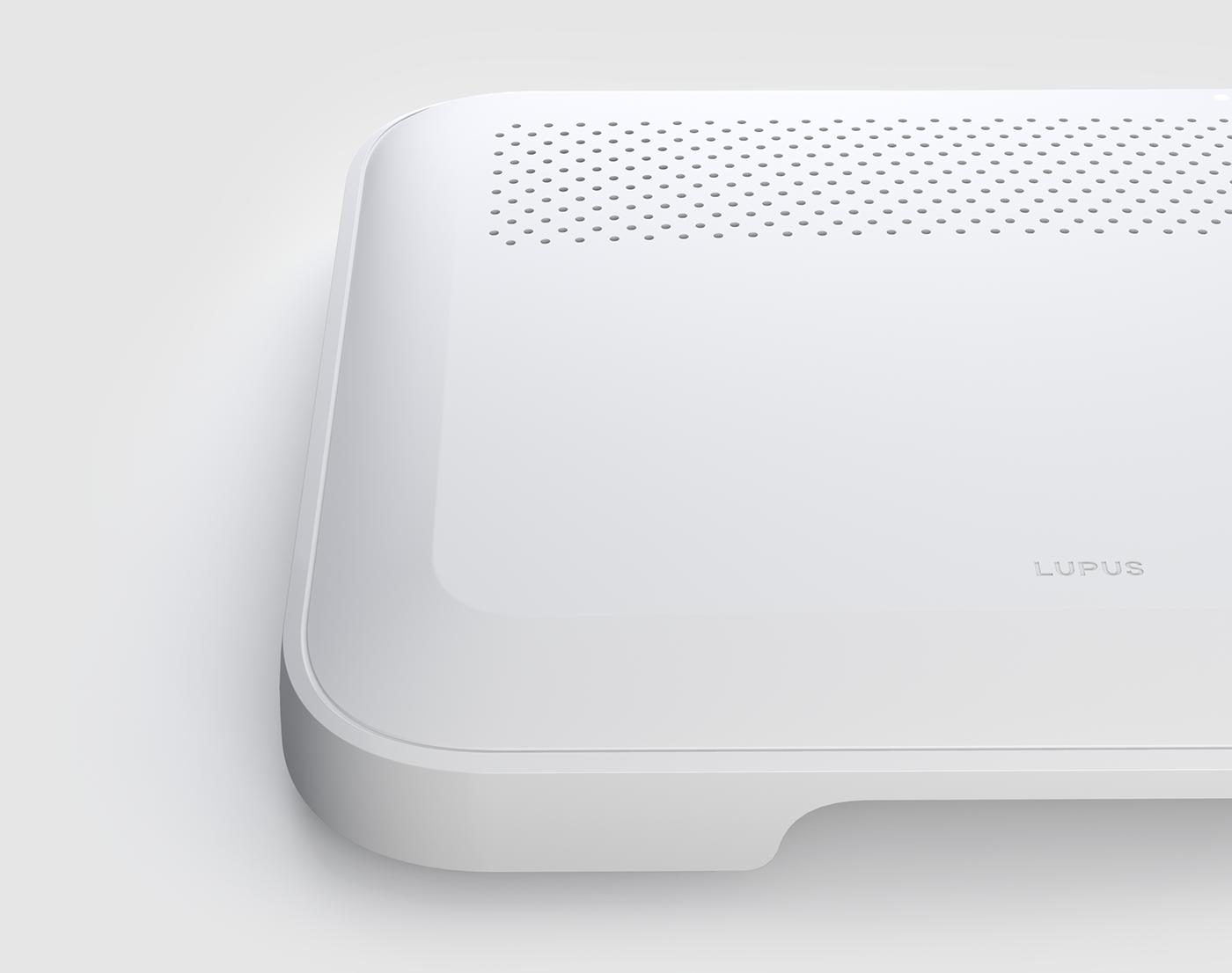 White Consumer electronic Smart home simplicity product design  lupus