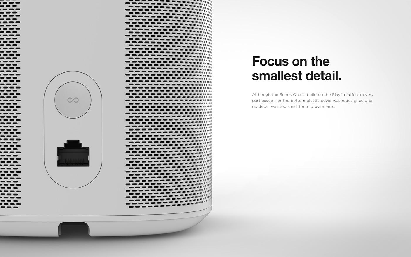 voice smartspeaker Sonos One sonos one Farfield voice microphones Voice assistant sound home