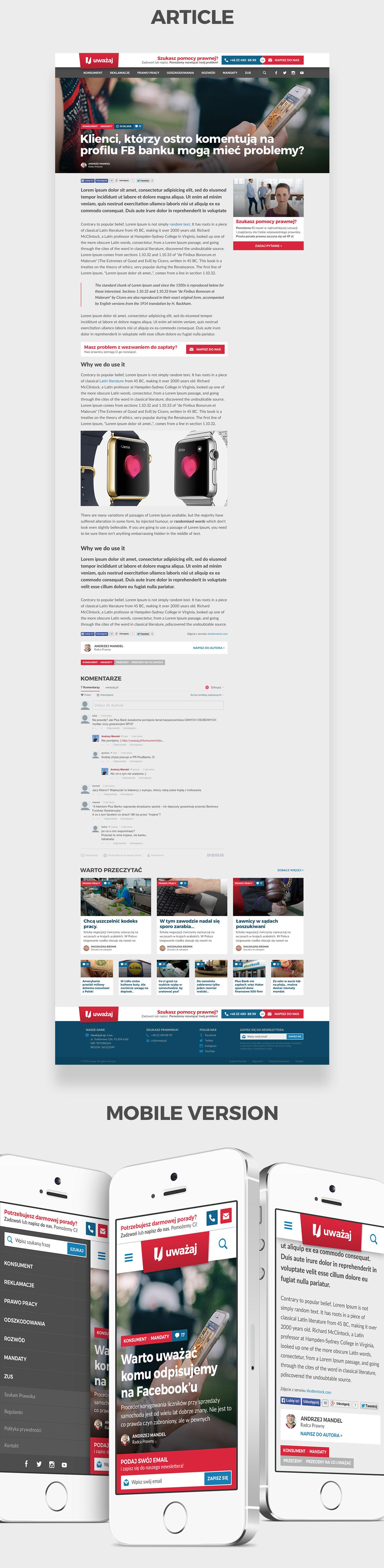 legal service wortal portal article lawyer help case flat Web Webdesign design