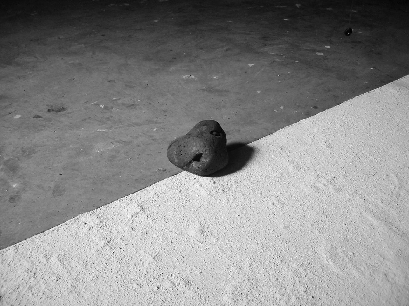 sculpture art fine art installation White Space  stone black and white minimal conceptual