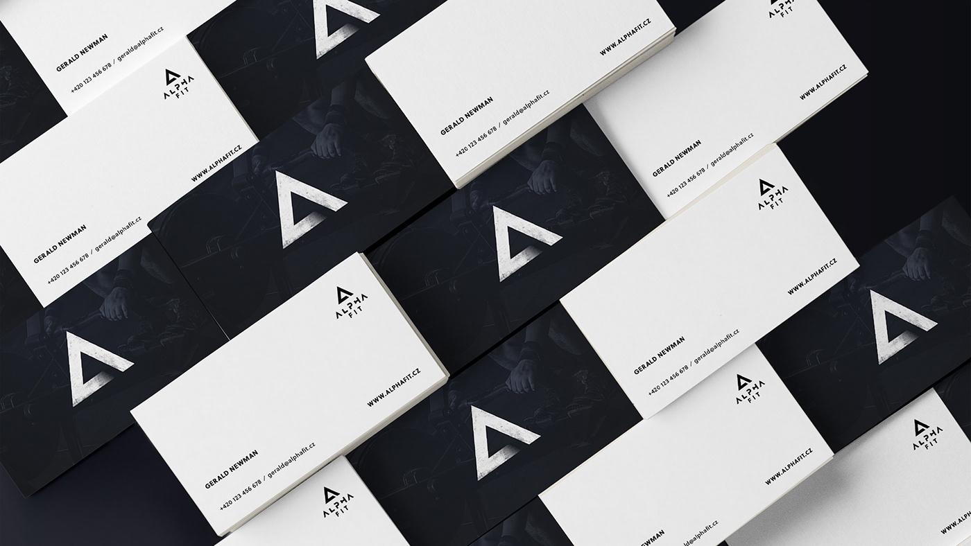 Crossfit gym sport logo identity branding  dark Web design corporate
