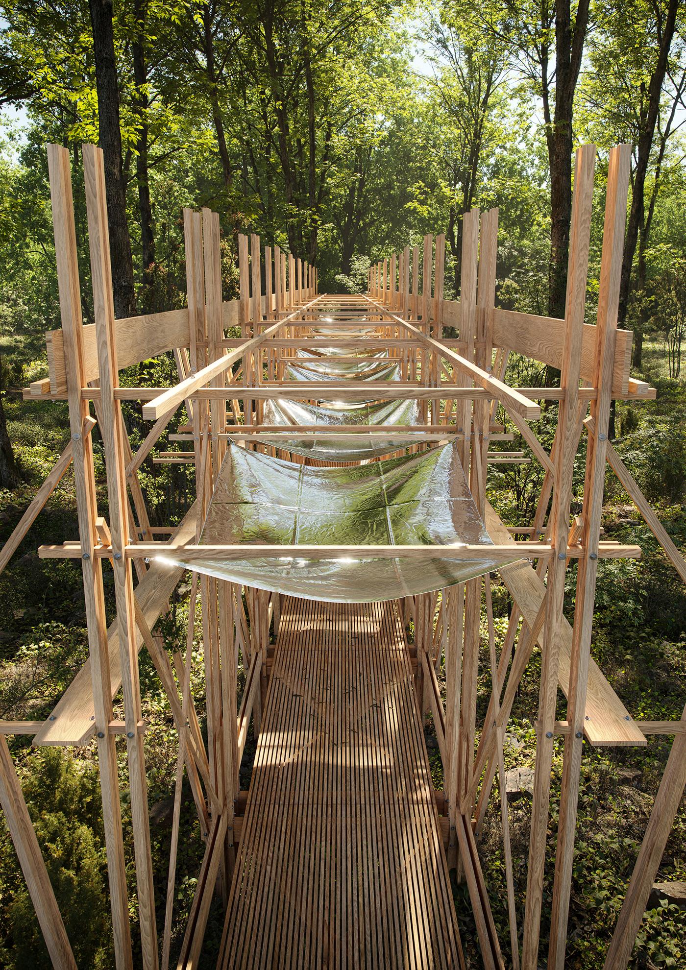 architecture archviz CGI concept construction forest Layout sculpture wood Layout Design