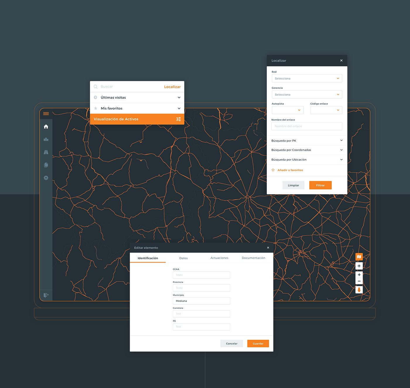 architecture arquitectura desktop interfaz mapas maps movile navegacion navigation