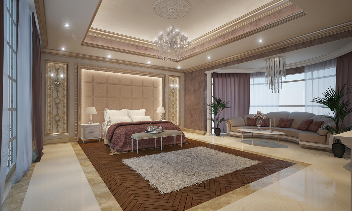 Grand master bedroom on behance for Grand bedroom designs