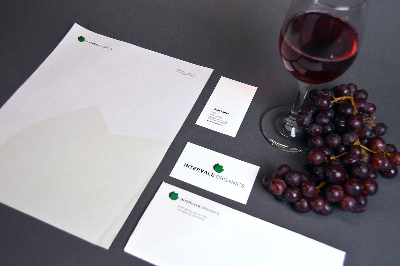 wine letterpress business card organic wine