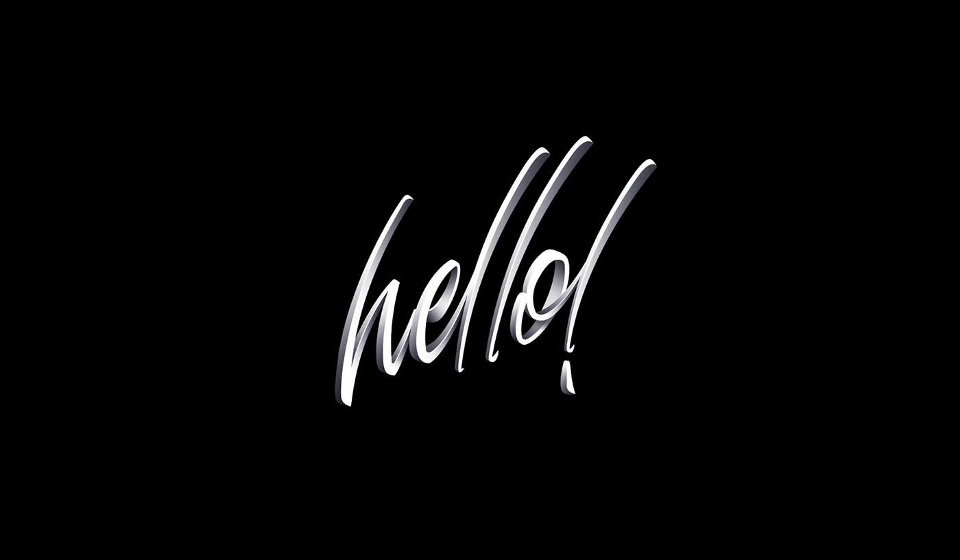 lettering Calligraphy   type letters hello Christmas