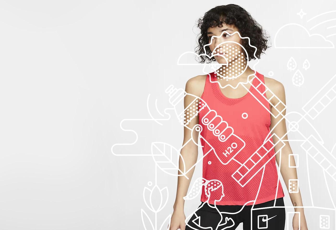 Line art illustration for Dri-FIT shirt