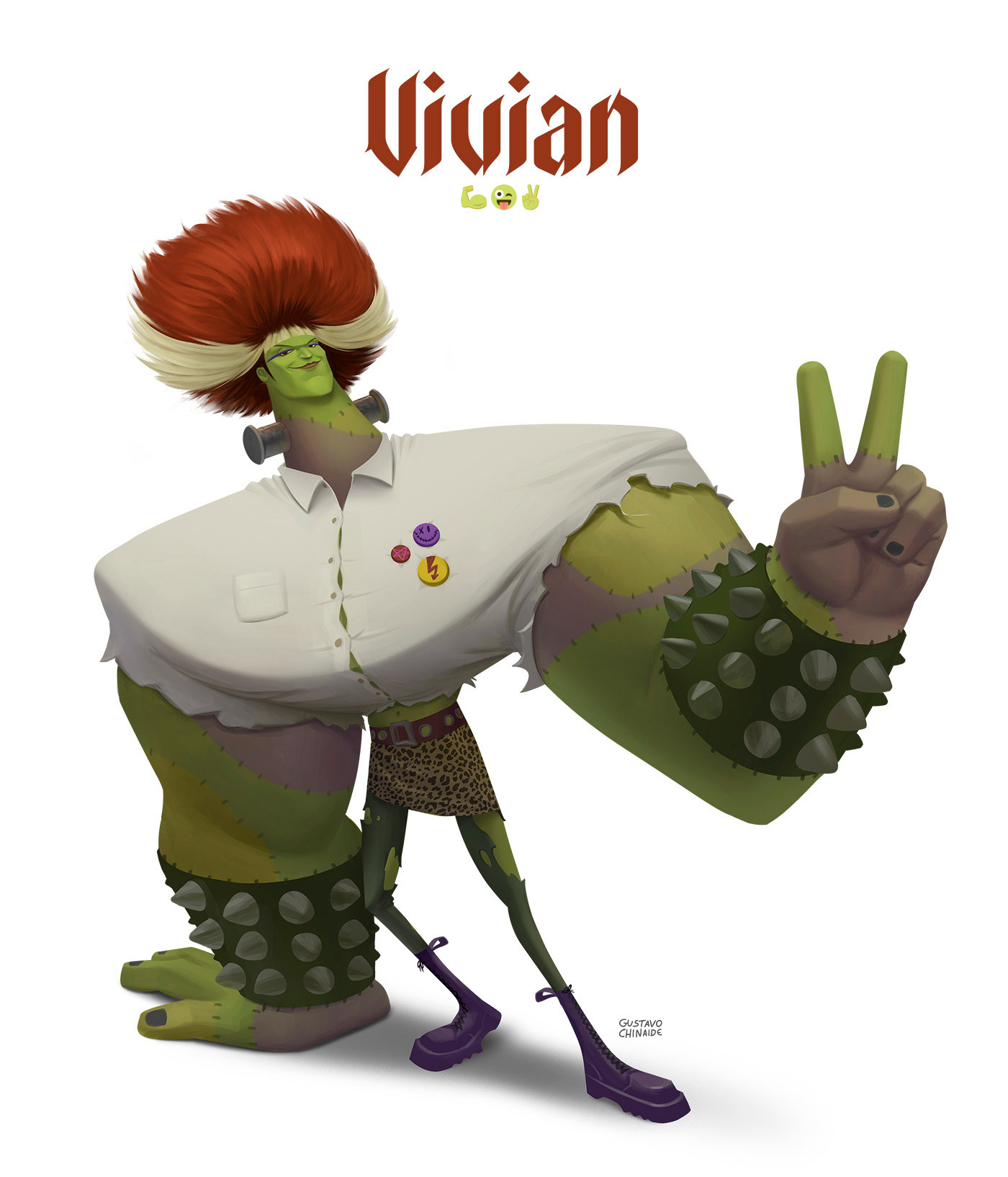 animation  Character Character design  concept frankenstein punk VisDev Visual Development Halloween