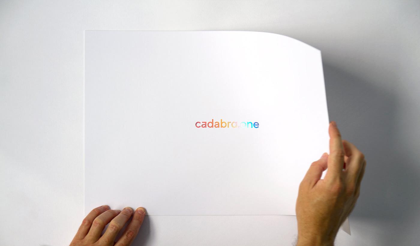 identity motion colors foil logo stamping Magic   branding  print