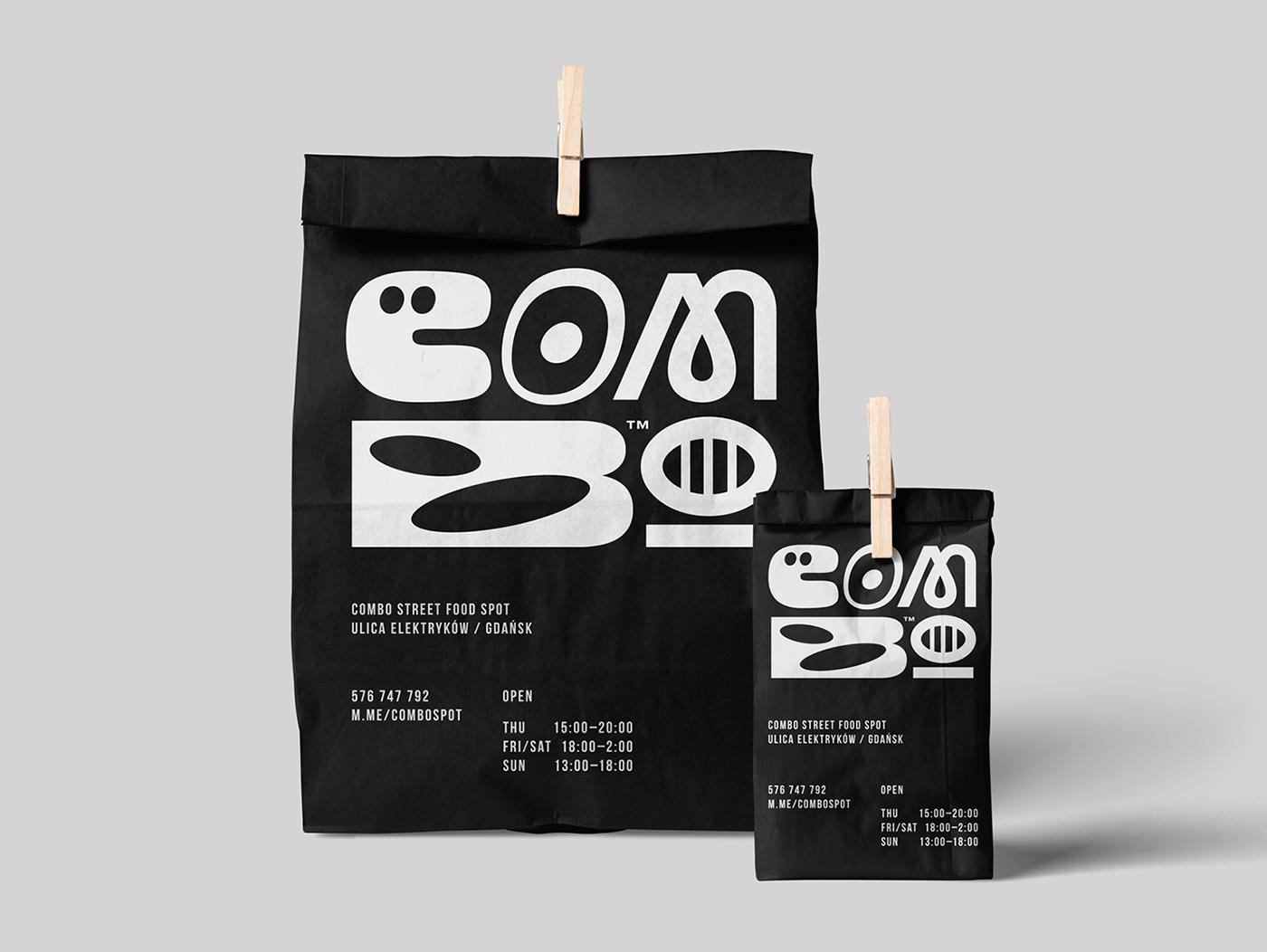Street Food Food  Culinary restaurant gastronomy fastfood logo bag cup Coffee