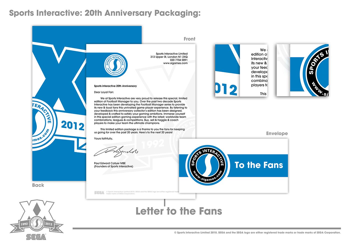 SEGA ycn Packaging product design  Gaming branding  sport football