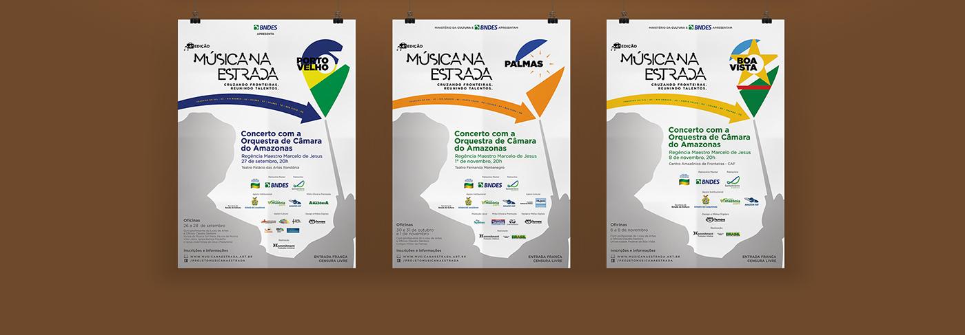 music musica print site Advertising  poster folder flyer branding  festival