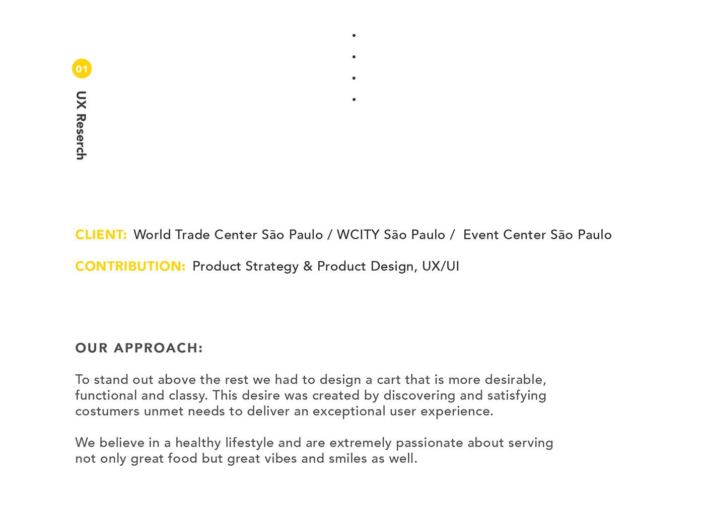 product design  Food  wtc sao paulo World Trade Center event center Bojana Knezevic UI ux app Web Design