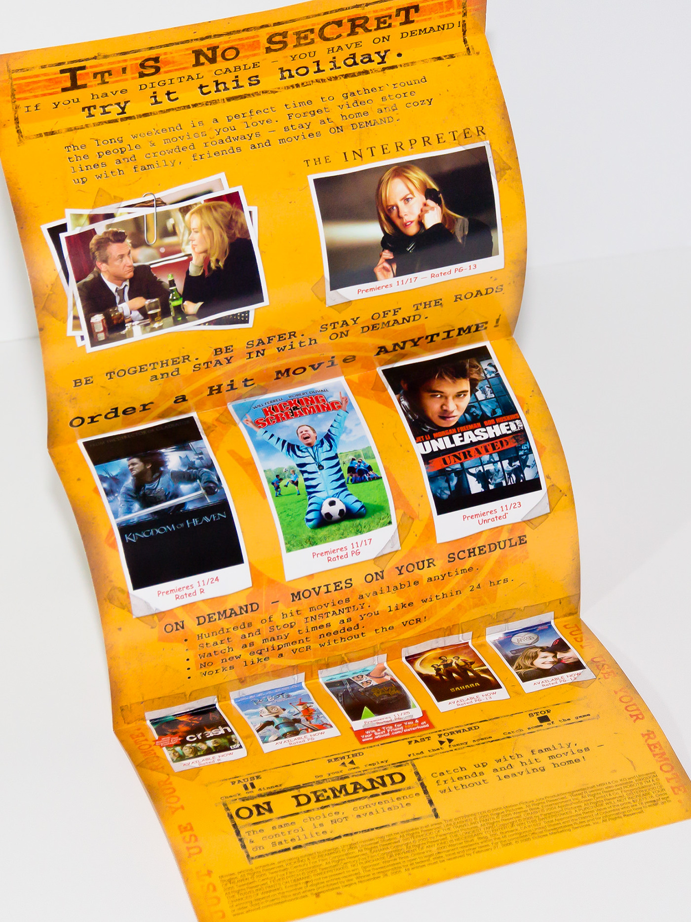 thanksgiving mailer top secret envelope Direct mail Movies on demand interpreter