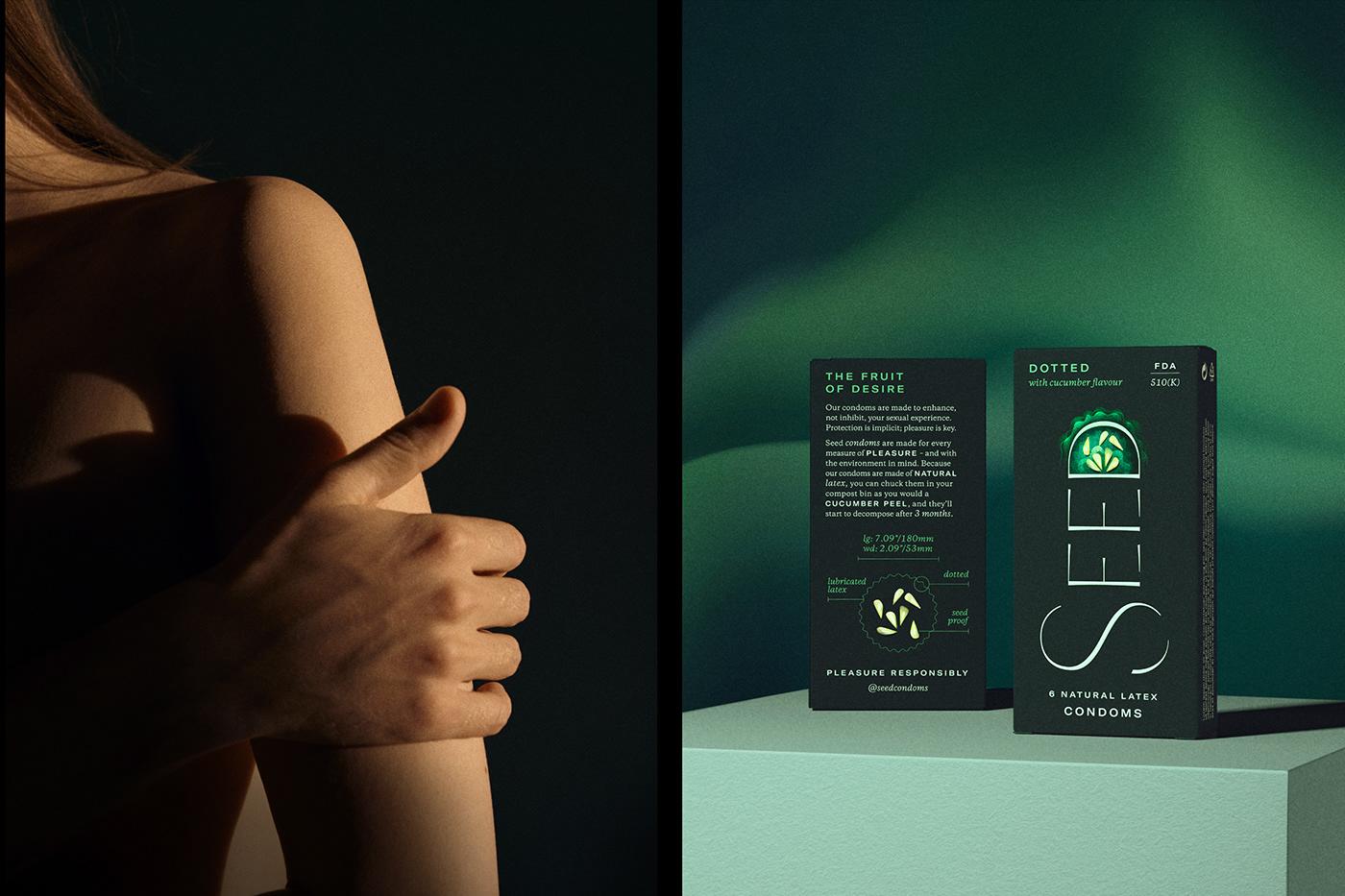 condoms desire Fruit Fruit Illustration Logo Design Packaging protection seeds sensual Sexual Wellness