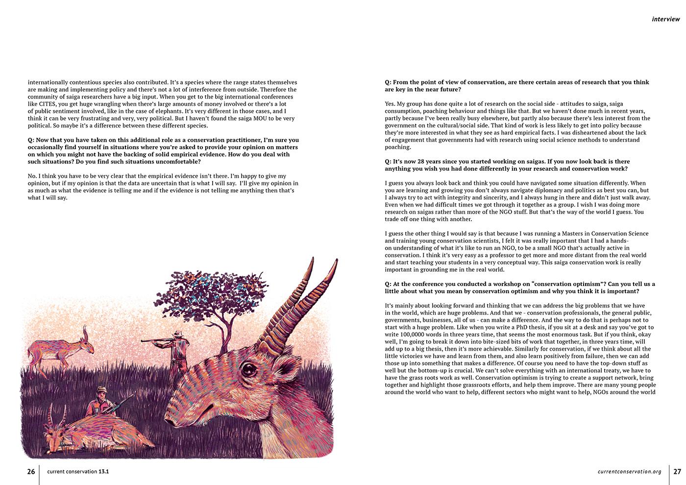 editorial endangered iPad magazine Magazine Cover photoshop wildlife wildlife art Wildlife Magazine wildlife magazine cover