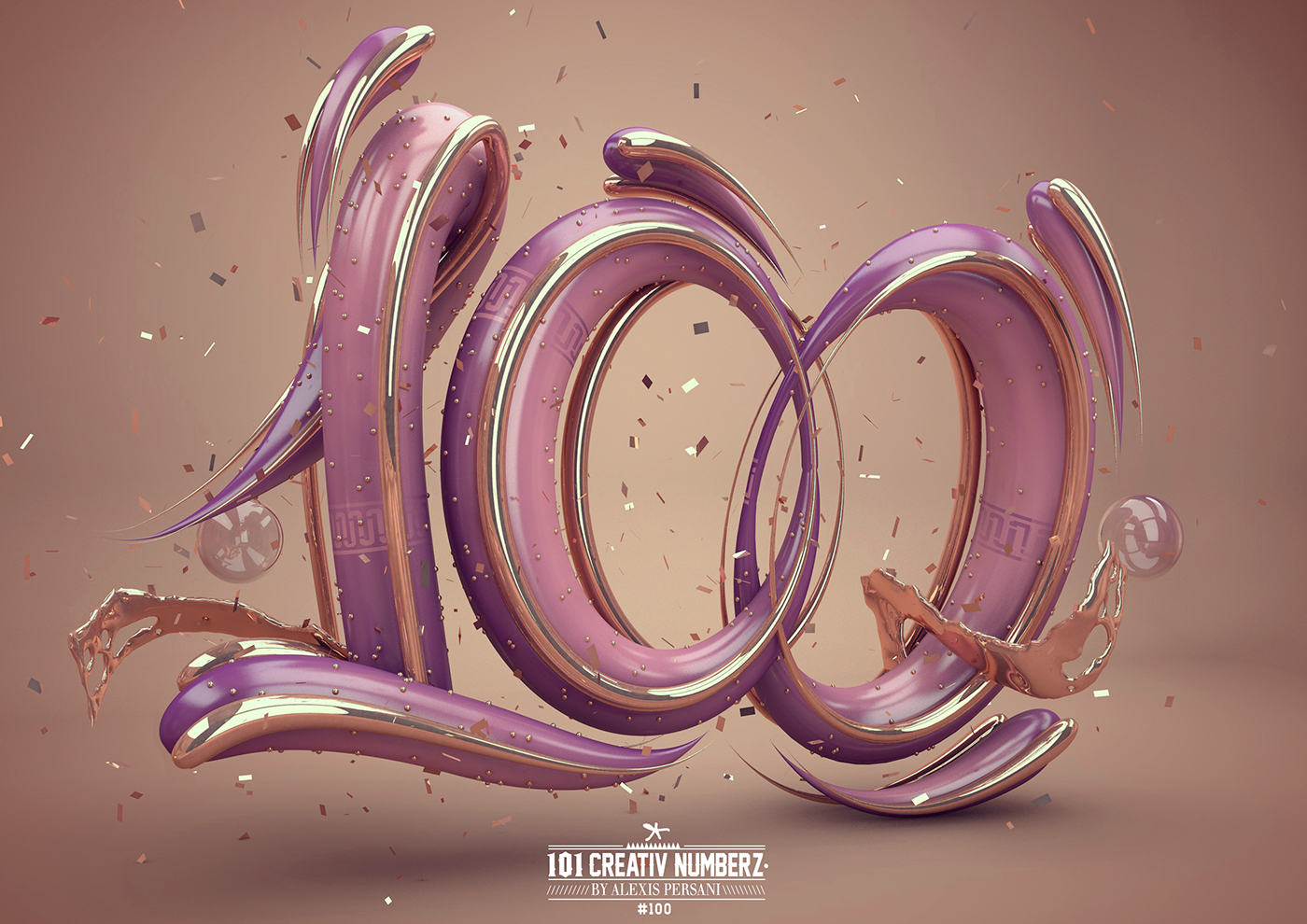 Outstanding 101 Creative Numbers Typography by Alexis Persani 94