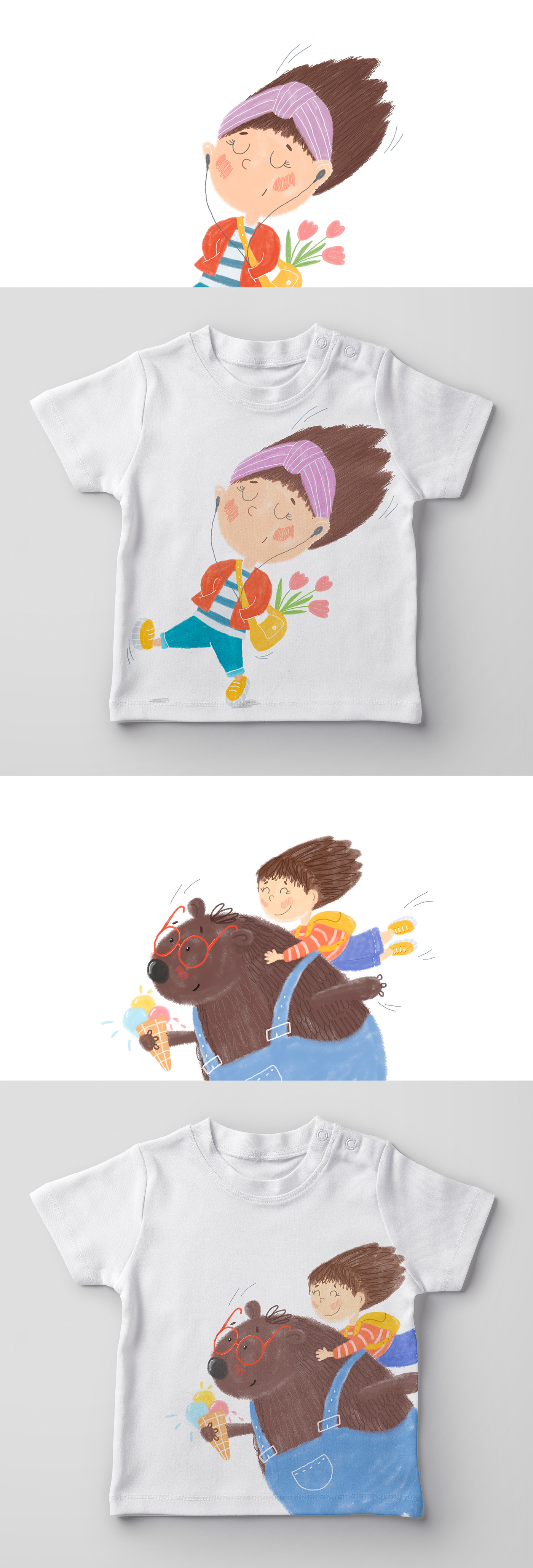 Character children clothes Fashion  illustartion pattern textile