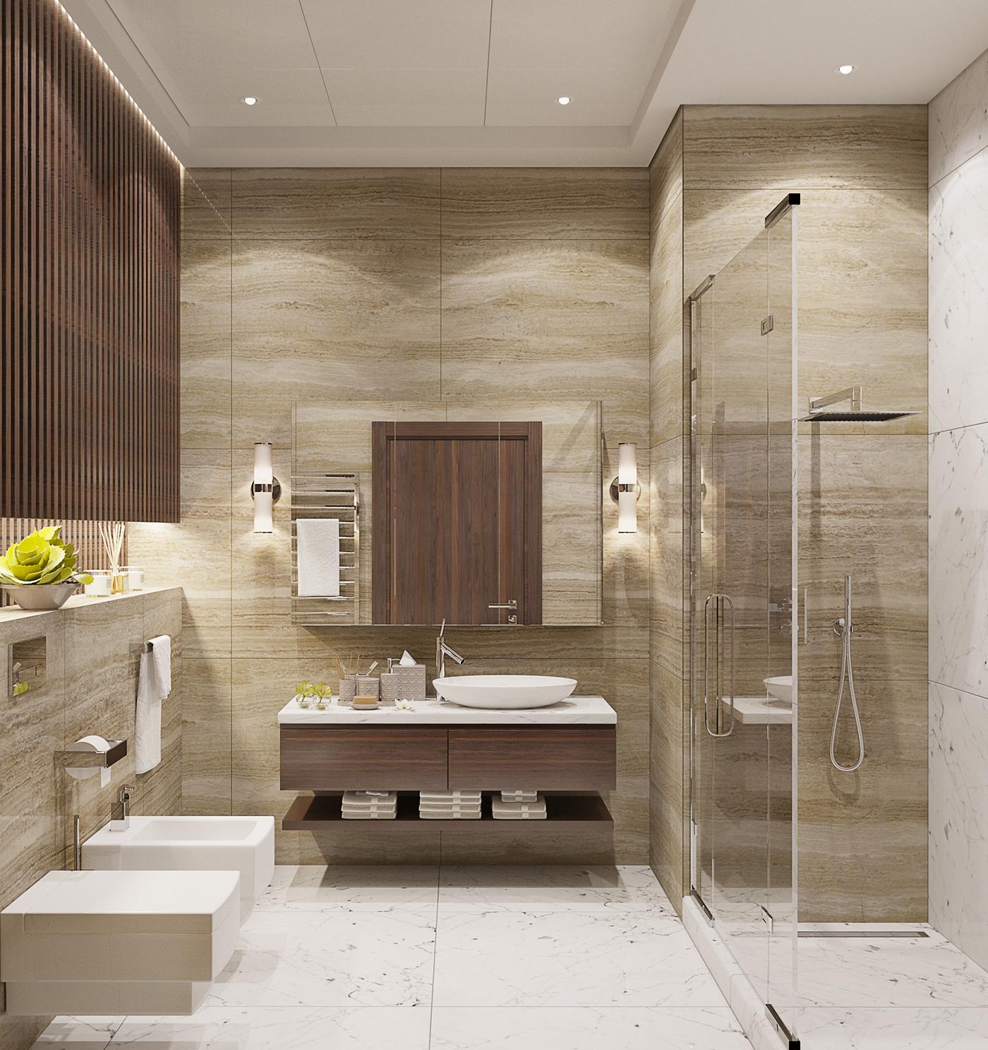 guest bathroom on behance